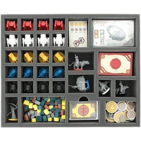 Foam tray value set for the Scythe board game box
