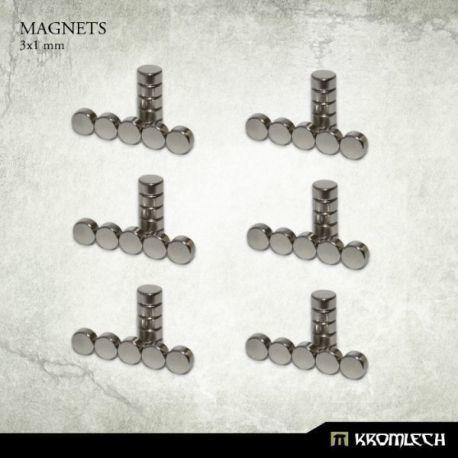 NEODYMIUM DISC MAGNETS 3X1MM