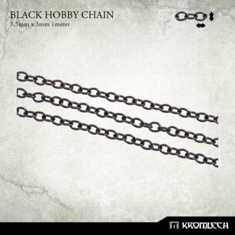 BLACK HOBBY CHAIN 3,5 X 3MM (1 METER)