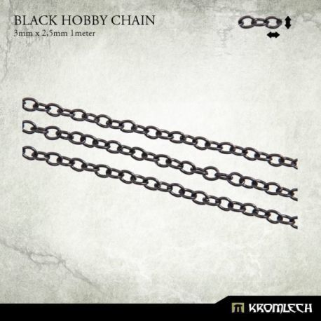 BLACK HOBBY CHAIN 3 X 2,5MM (1 METER)