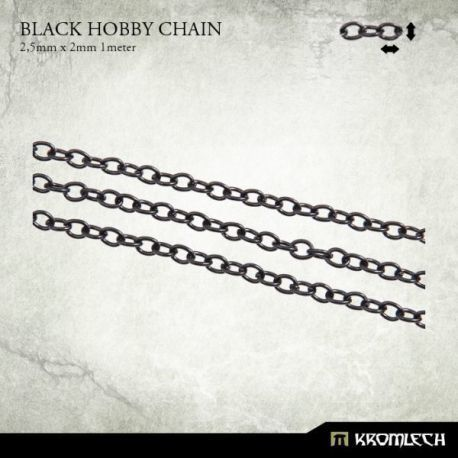 BLACK HOBBY CHAIN 2,5 X 2MM (1 METER)