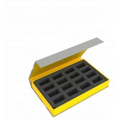 Feldherr Magnetic Box yellow for 16 miniatures