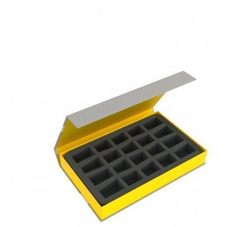Feldherr Magnetic Box yellow for 20 smaller miniatures