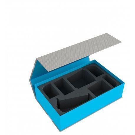 Feldherr Magnetic Box Blue for Star Wars X-WING Upsilon Class, 4 ships and accessories