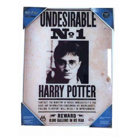 INDESEABLE Nº1 POSTER DE VIDRIO 30x40 HARRY POTTER
