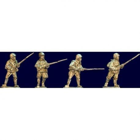 Soviet Riflemen with Rifles II (Helmets