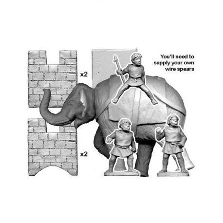 Numidian Elephant (3 Crew and Howdah)