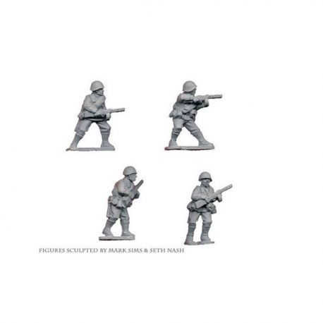 Russian Infantry with SMG (4 figs)