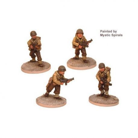 US Infantry with Thompson SMG (4 figs)