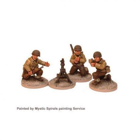 US Infantry 60mm Mortar & Crew (3 crew, 1 mortar)