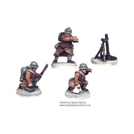French 81mm Mortar and Crew (1 mortar, 3 crew)
