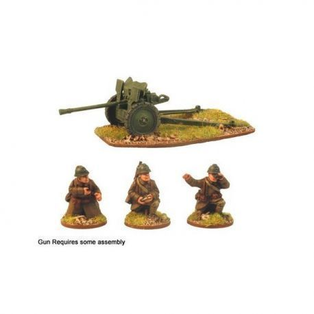 French 25mm AT gun & 3 crew