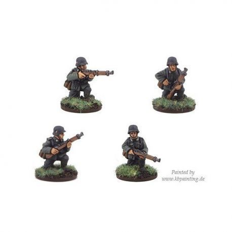 German Riflemen kneeling (4 figs)