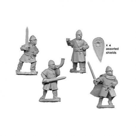 Unarmoured Norman Infantry Command (4 figs)