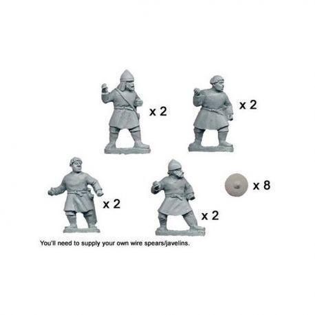 Psiloi Javelinmen with Buckler (8)