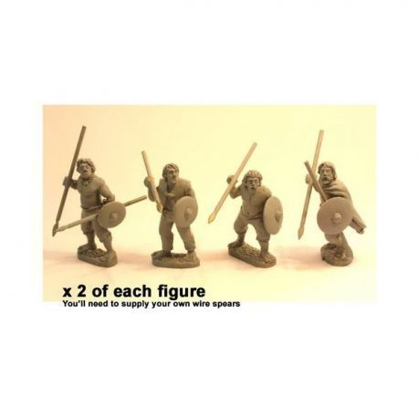 Irish Warriors with Spear & Buckler (8)
