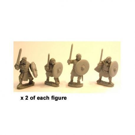 Irish Noble Warriors with swords & shields (8)