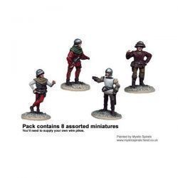 Wars of the Roses Unarmoured Pikemen (8)