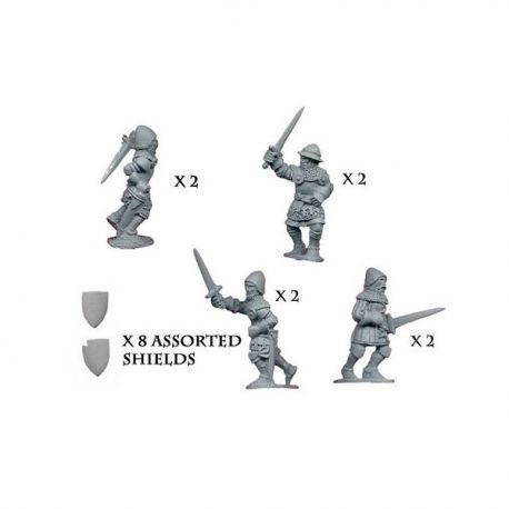 Dismounted knights with sword & shield (8)
