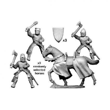 Mounted knights with axes & maces