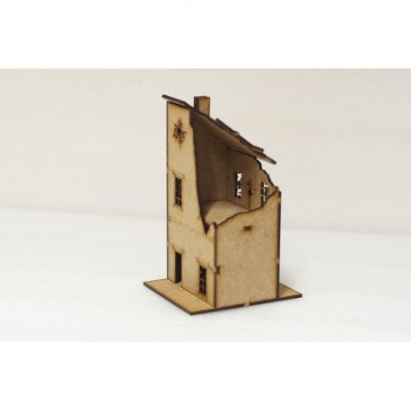 ruined dividing building 15 mm