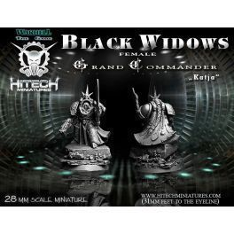 28MM BLACK WIDOWS GRAND COMMANDER KATJA