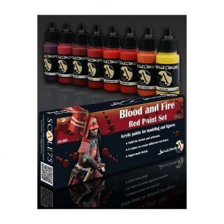 BLOOD AND FIRE RED PAINT SET